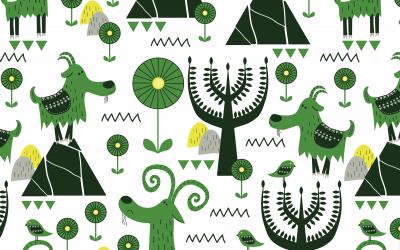 Goats….green goats!