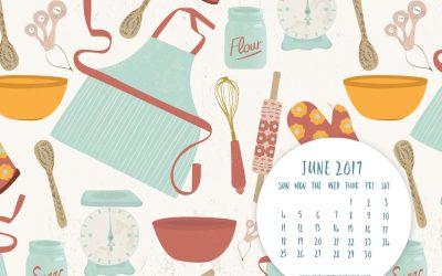 June 2017 Free Desktop Calendar & Inspirational Quote