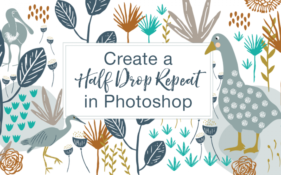 Online Course – Creating Half Drop Repeats in Photoshop