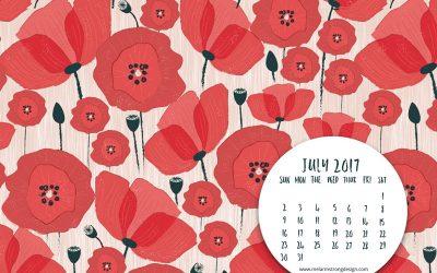 July 2017 FREE DESKTOP CALENDAR & INSPIRATIONAL QUOTE