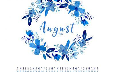 August 2017 FREE DESKTOP CALENDAR & INSPIRATIONAL QUOTE