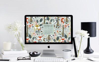 November 2017 Free Desktop Calendar
