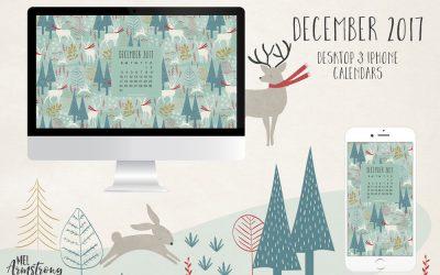 December 2017 Free Desktop Calendar
