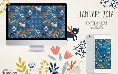 January 2018 Free Desktop Calendar Wallpaper Download