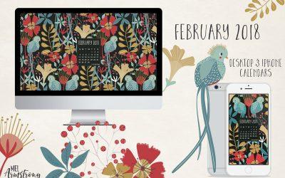 February 2018 Desktop Calendar